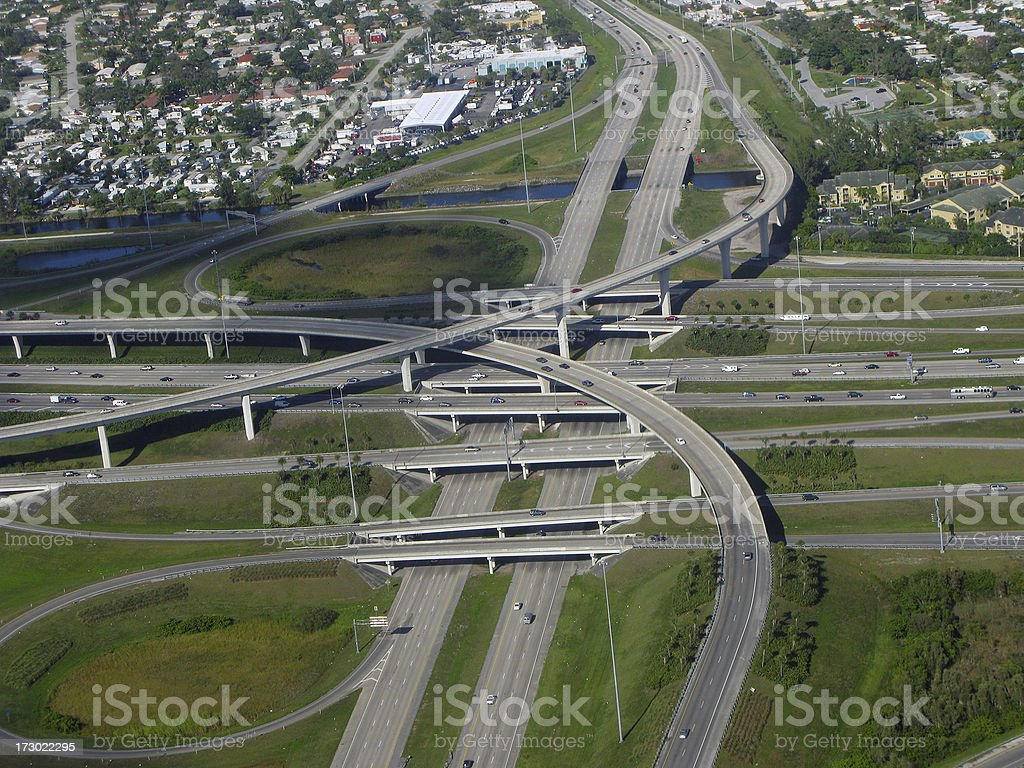 Highways royalty-free stock photo