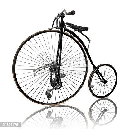 Old bicyclel, isolated on white background