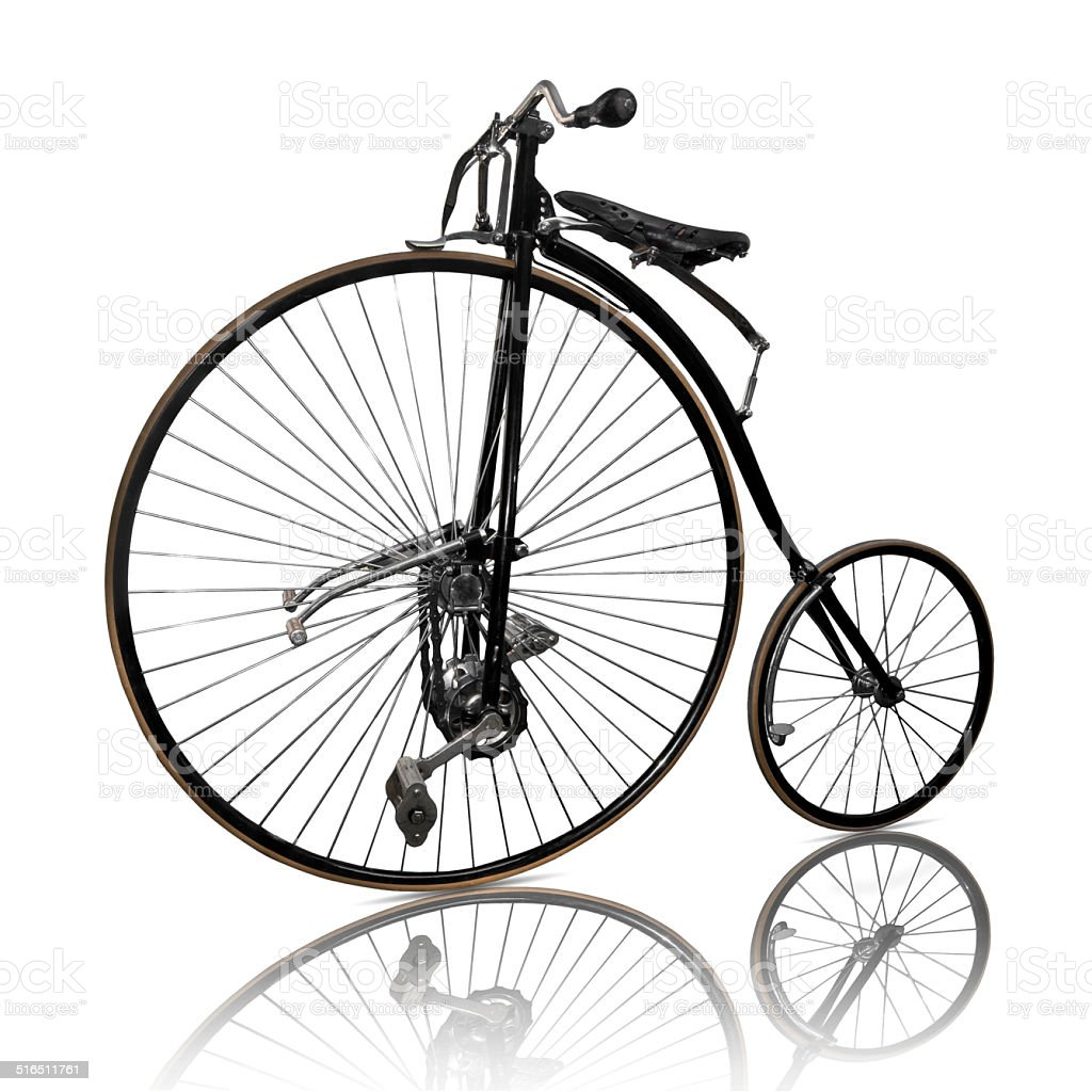 High-wheel bicycle stock photo