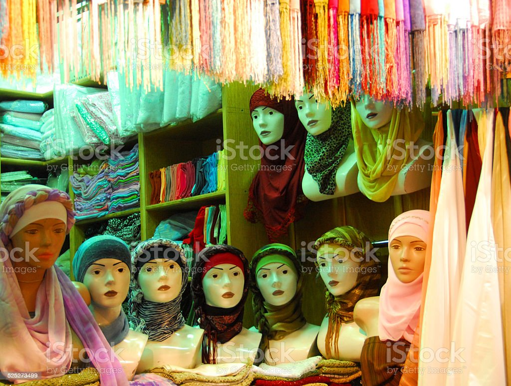 Hijab shop stock photo