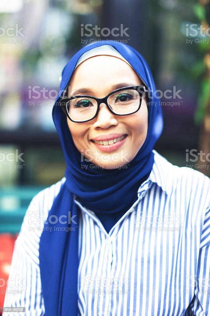 Hijabi Malaysian Girl royalty-free stock photo