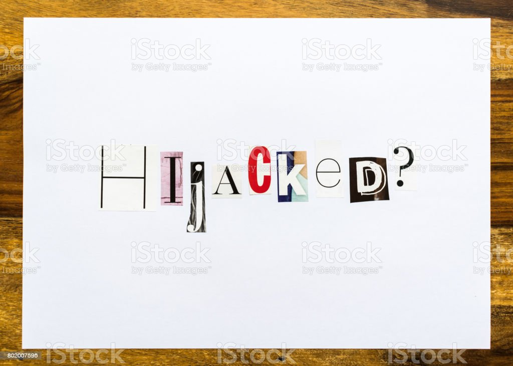 Hijacked question - note on desk stock photo