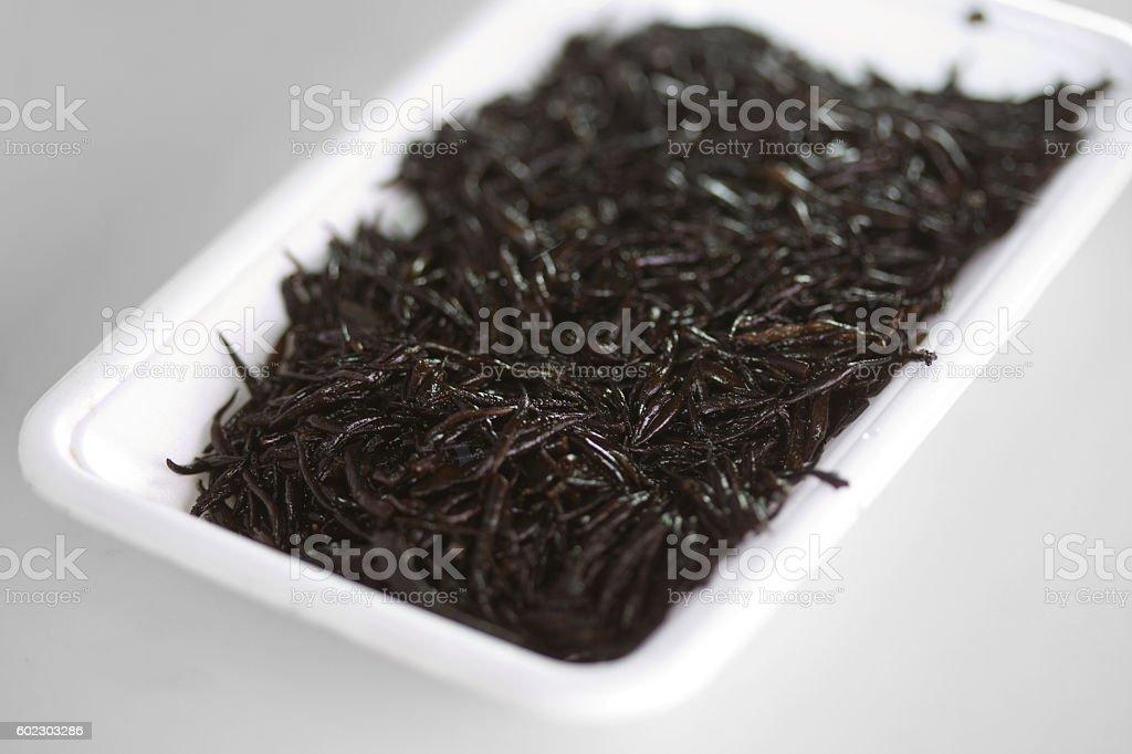 Hijiki in Plastic Tray stock photo
