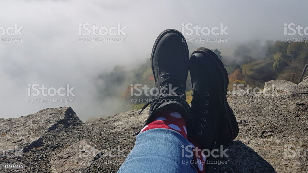 Hike and relax stock photo