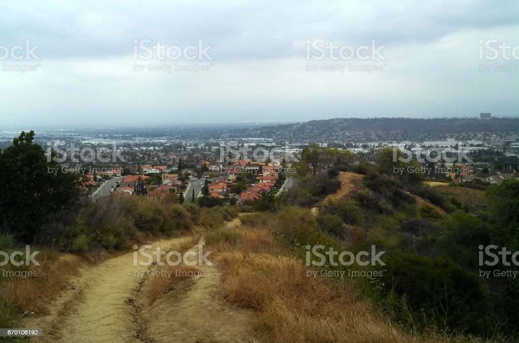 A Hike in the Park stock photo