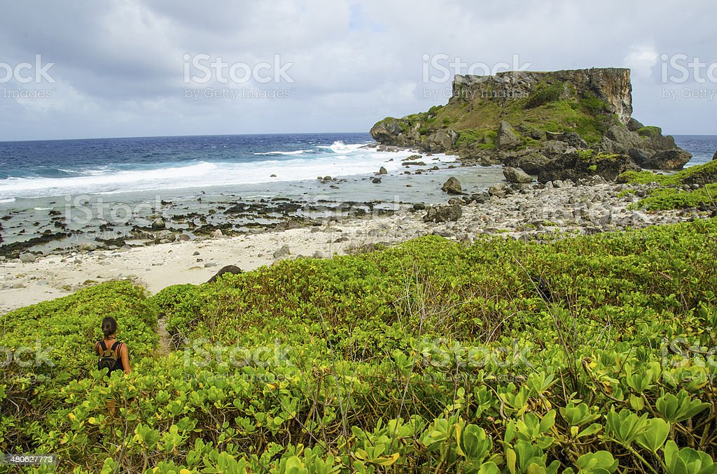 Hike to Forbidden Island stock photo
