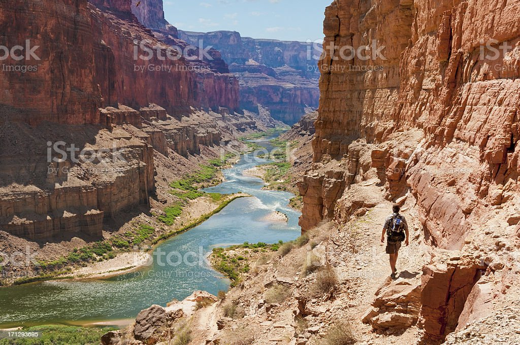 Hike to Puebloean Granaries stock photo