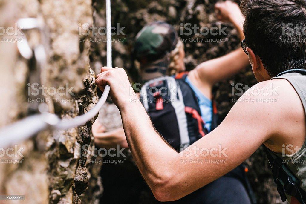 Hiker adventure royalty-free stock photo
