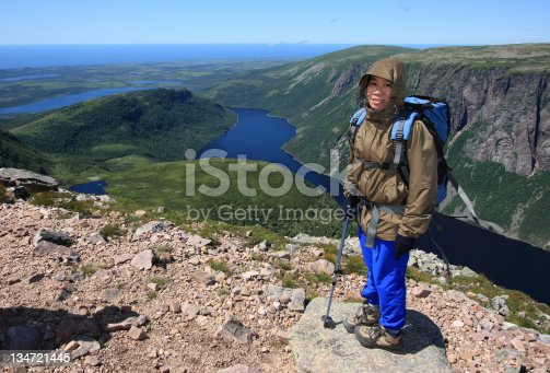 458694311 istock photo Hiker at Ten Mile Pond 134721445
