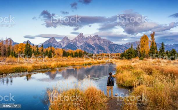 Photo of Hiker in Grand Teton National Park USA
