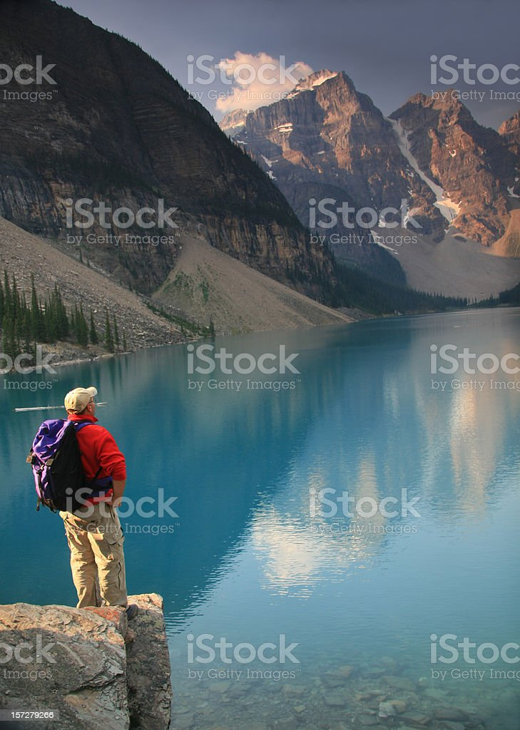 Hiker in the Rockies royalty-free stock photo
