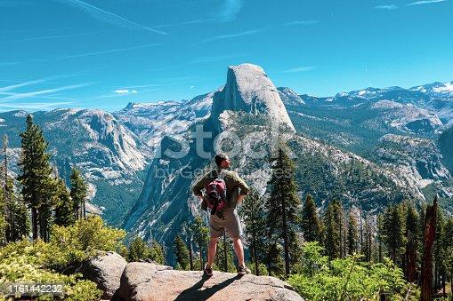 California, USA June 2019 - hiking in Yosemite National Park