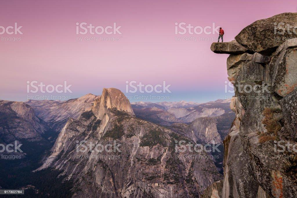 Hiker in Yosemite National Park, California, USA royalty-free stock photo