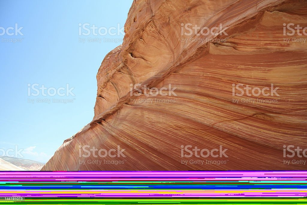 Hiker in Zion National Park River royalty-free stock photo