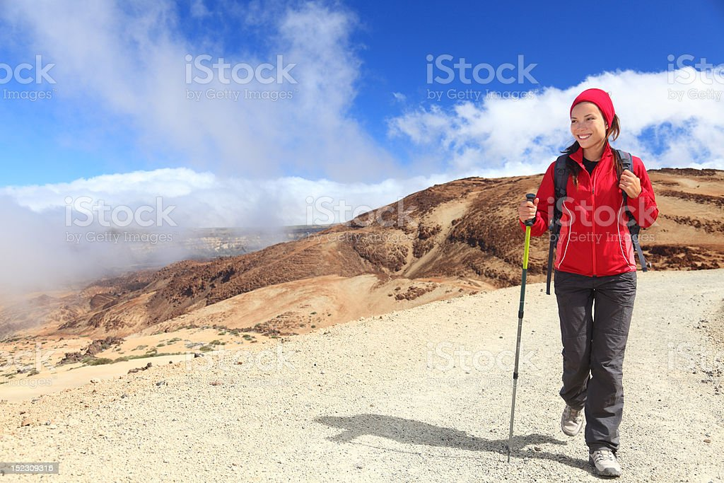 Hiker looking at view royalty-free stock photo