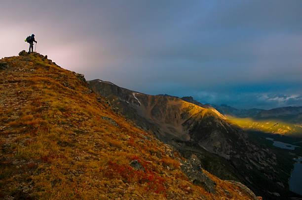 Wanderer auf summit – Foto