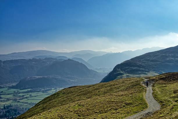 Ein Wanderer auf dem Weg zu Catbells – Foto