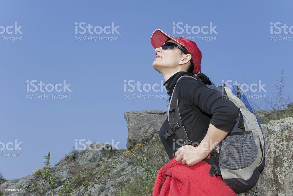 hiker stock photo