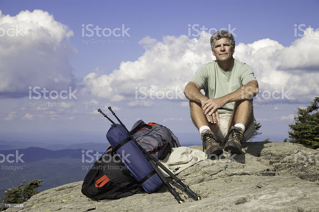 Hiker Resting royalty-free stock photo