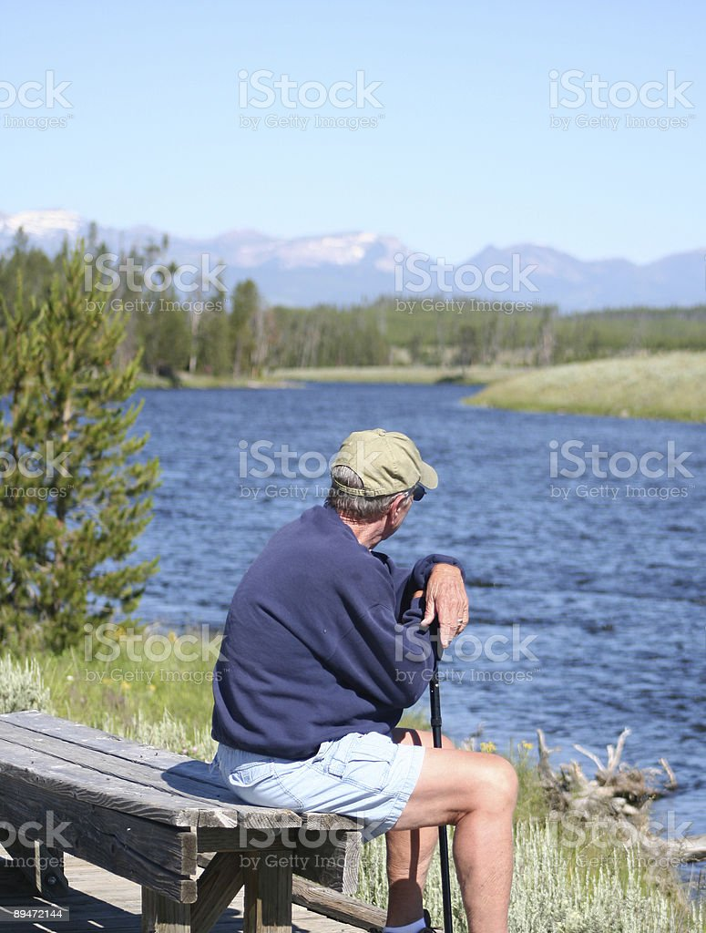 Hiker Verticle royalty-free stock photo