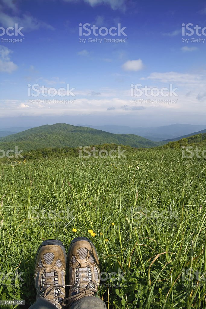 Hiker View royalty-free stock photo