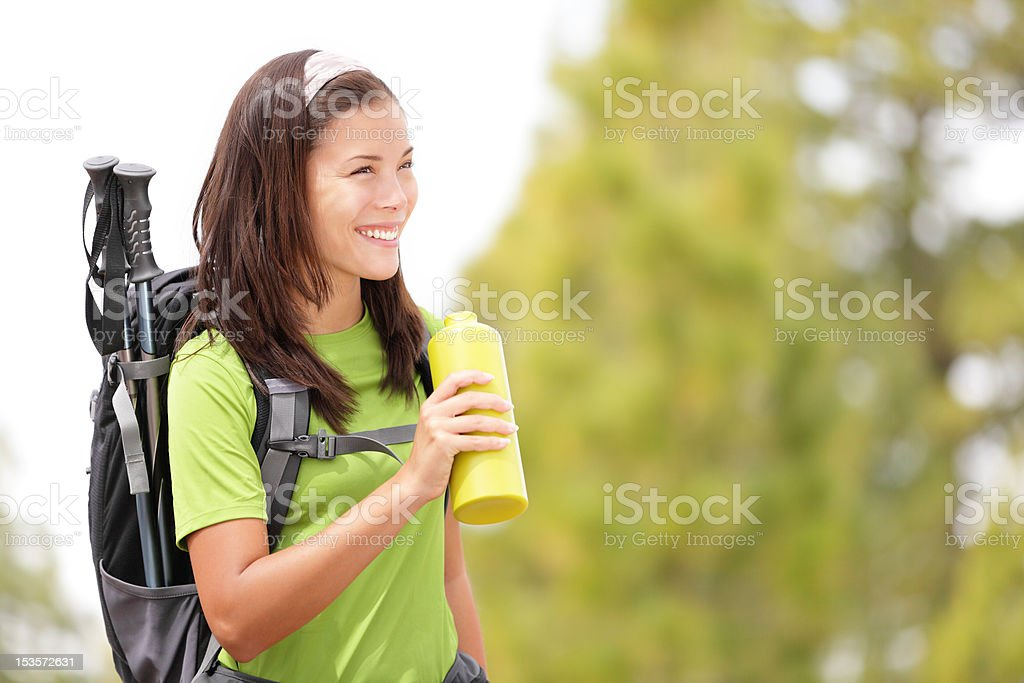 Hiker woman royalty-free stock photo