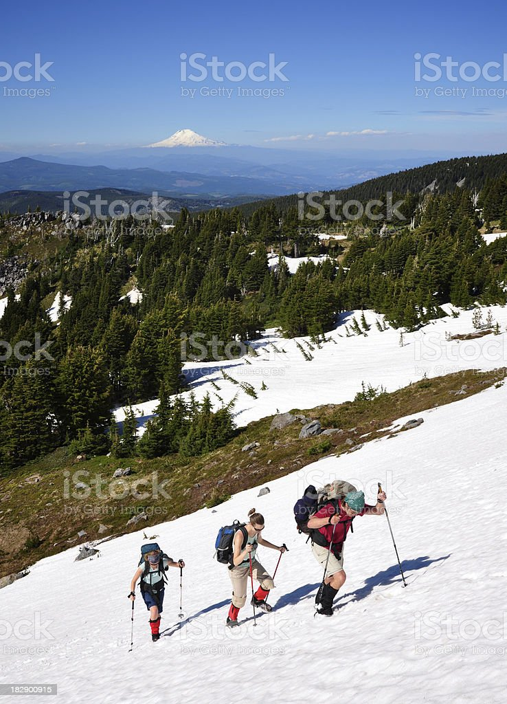 Hikers Ascending royalty-free stock photo