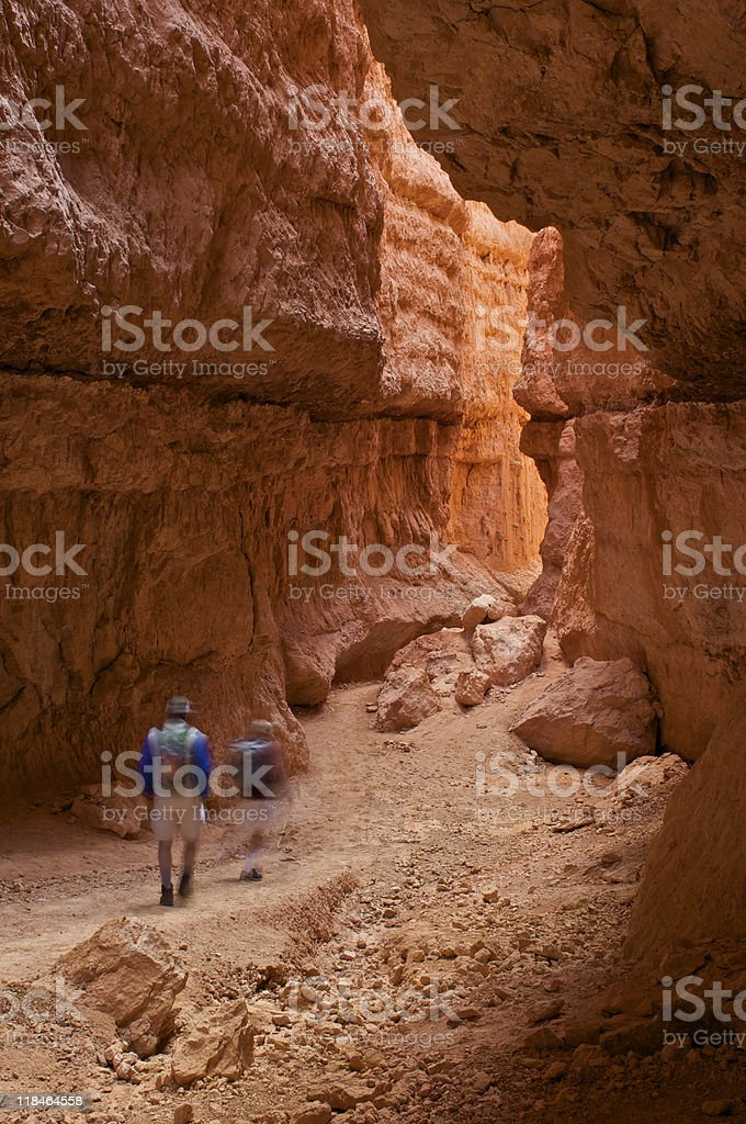 Hikers in Bryce royalty-free stock photo
