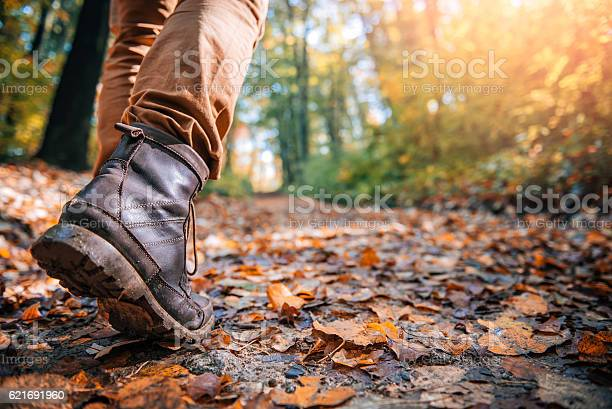 Photo of Hikers muddy boots
