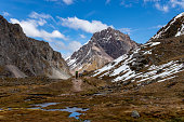 istock Hikers on the Ausangate Trek in the Cordillera Vilcanota, Andes Mountains, Peru 1068862548