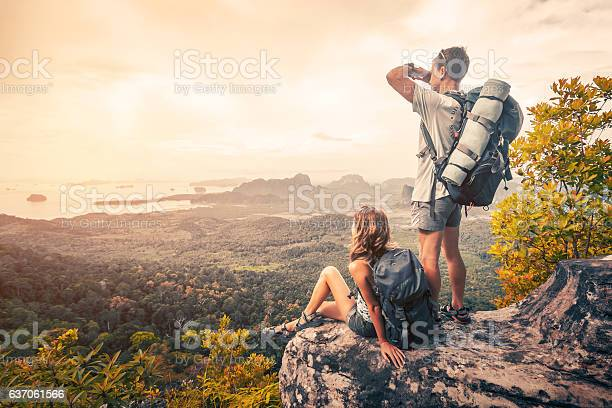 Photo of Hikers on the mountain