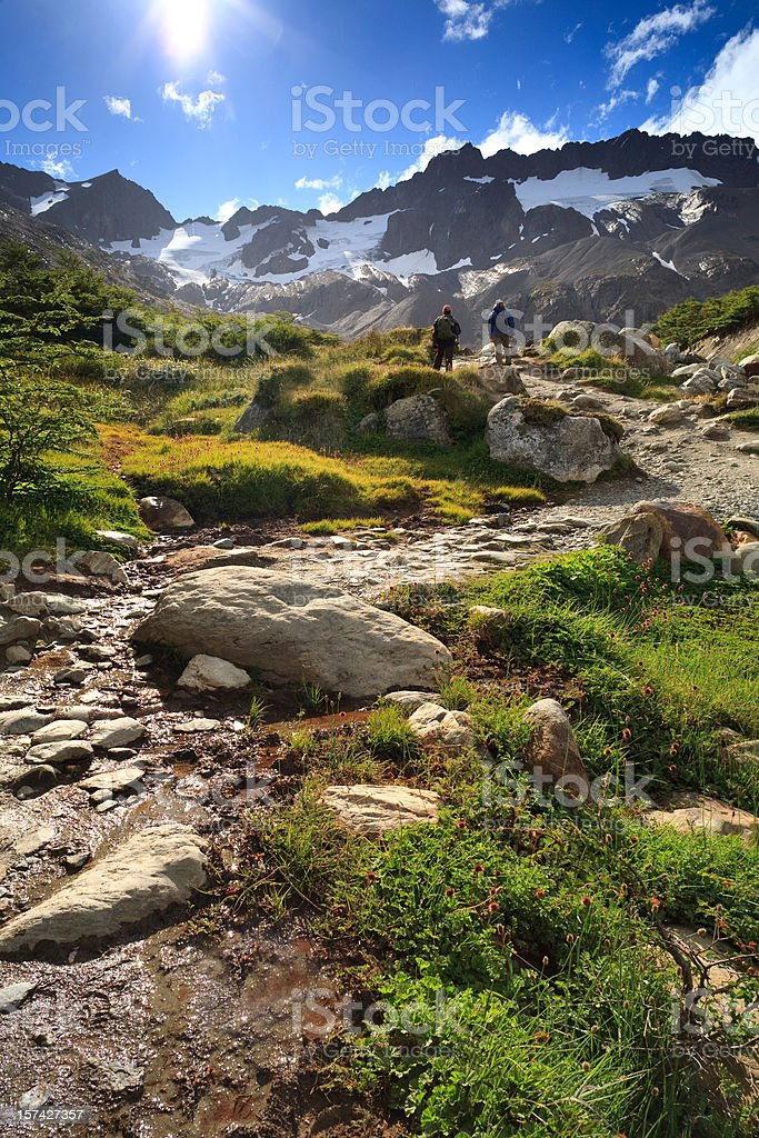 Hikers on the Trail royalty-free stock photo