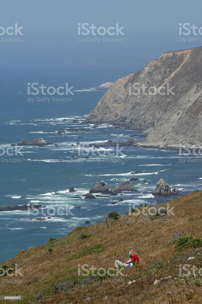 hikers on the west coast royalty-free stock photo