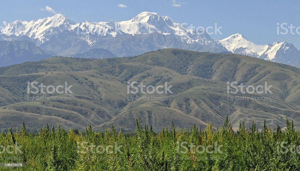 Hiker´s Paradise: Magnificient Central Asia Mountainscape stock photo