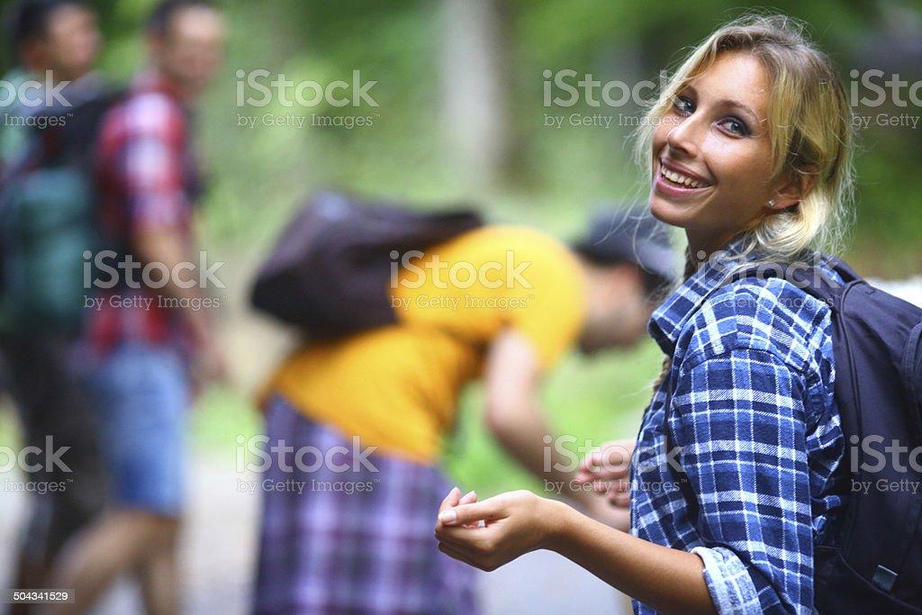 Hikers. stock photo