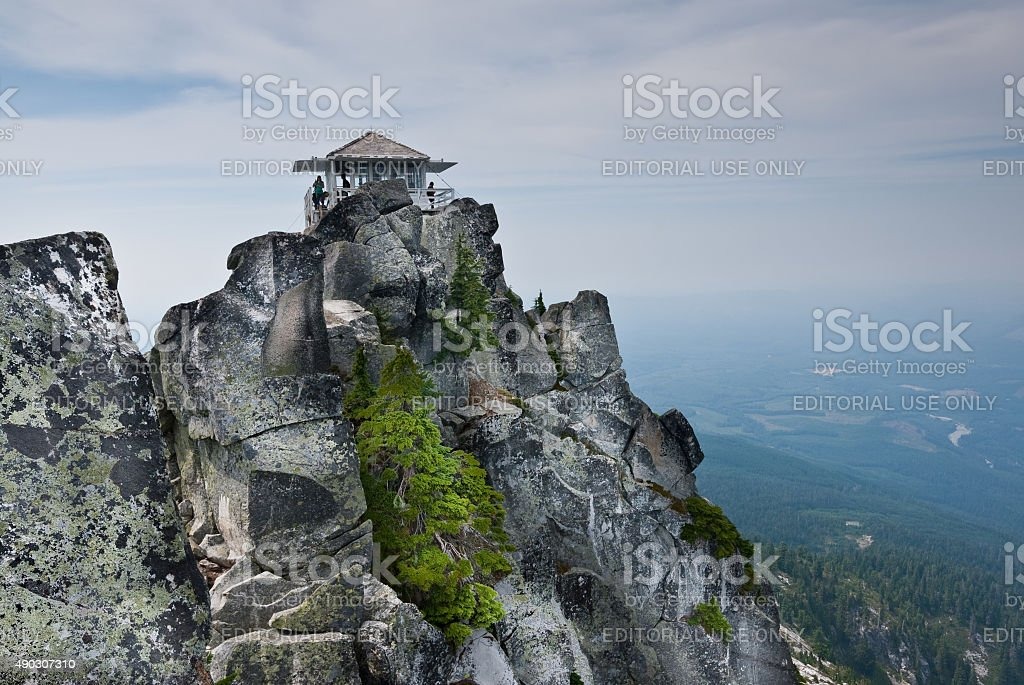 Mount Pilchuck Fire Lookout stock photo