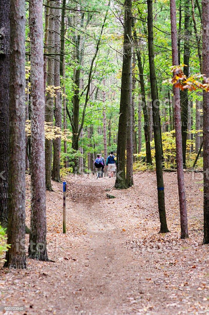 Hikers Turner Reservoir royalty-free stock photo