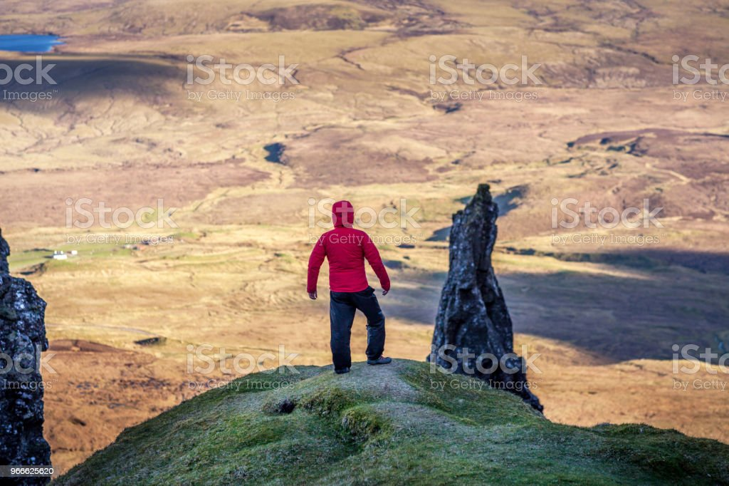 Hikers View over the Isle Of Skye Close. stock photo