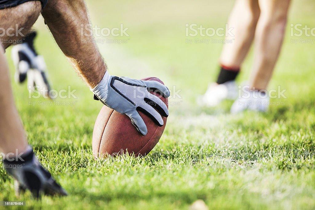 Hiking a Football. stock photo