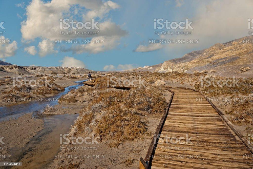 Hiking Along the Salt Creek Boardwalk stock photo