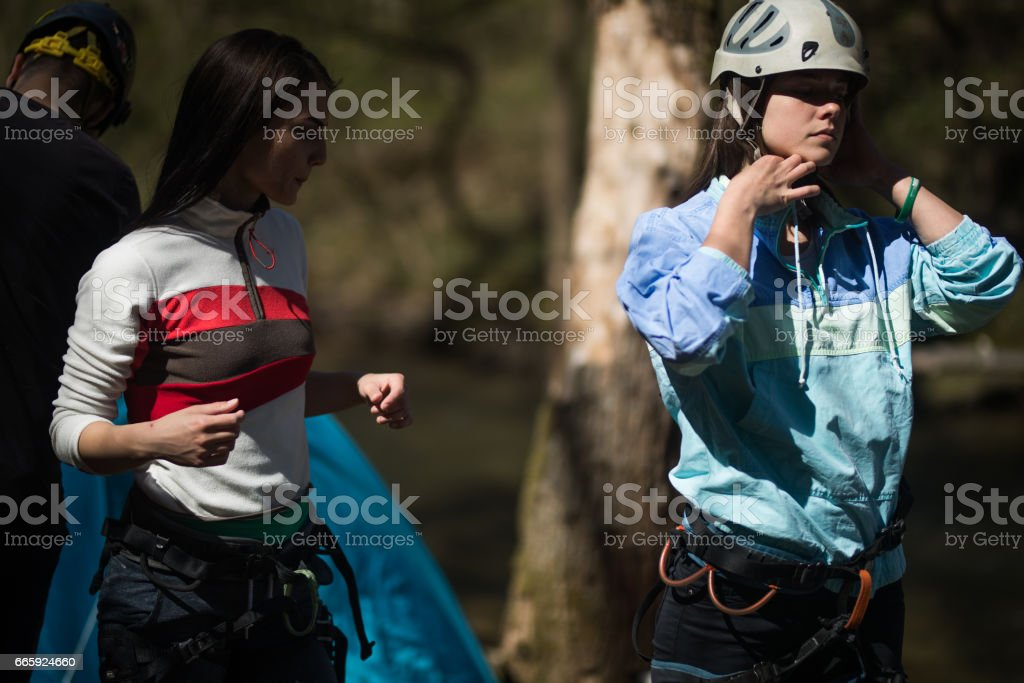 Hiking and climbing equipment foto stock royalty-free