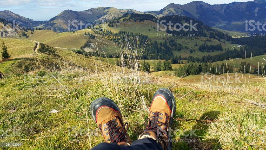 Hiking Bavaria stock photo