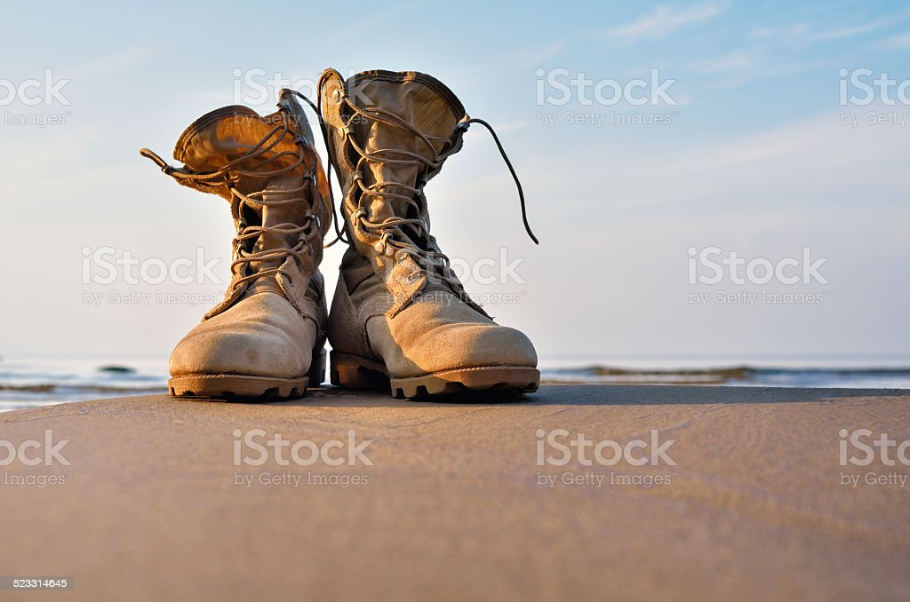 Hiking Boots stock photo