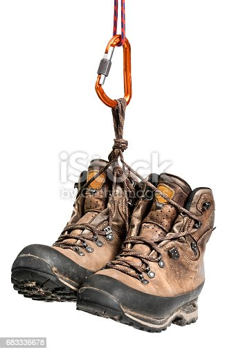 istock Hiking boots. 683336678