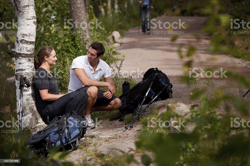 Hiking Break royalty-free stock photo