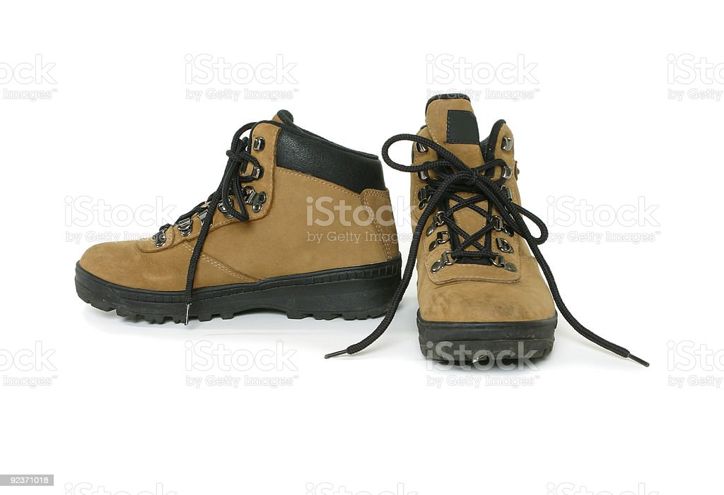 Hiking bushwalking boots royalty-free stock photo