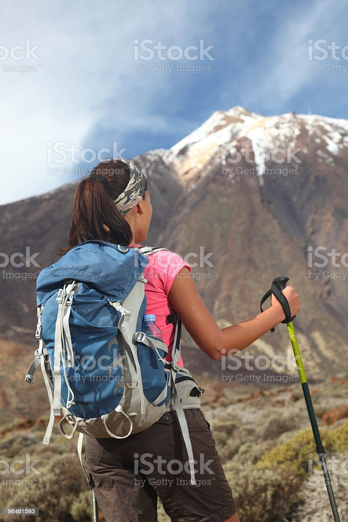 Hiking challenge royalty-free stock photo