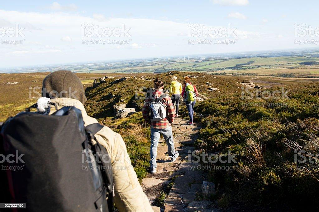 Hiking Club stock photo
