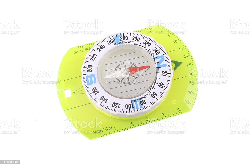 Hiking compass royalty-free stock photo