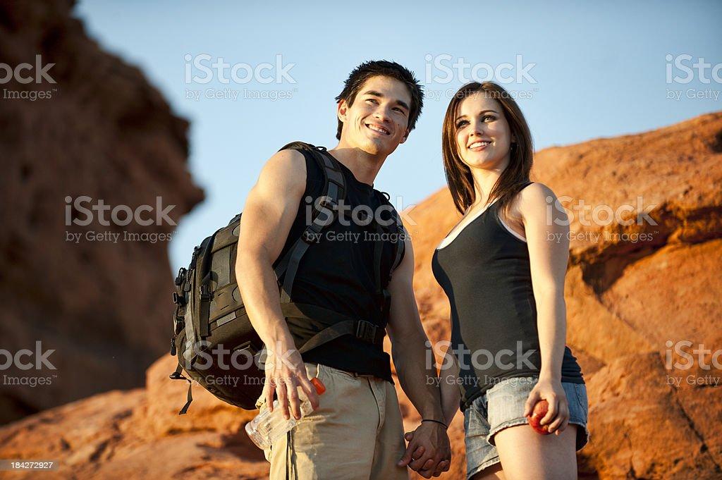 Hiking Couple stock photo